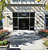 Front door to 11331 Coppersmith Way, Richmond, BC - Riverside Professional Centre, where Bruce Thompson's offices are located
